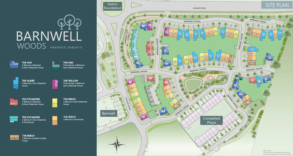 Barnwell Woods - Site Map