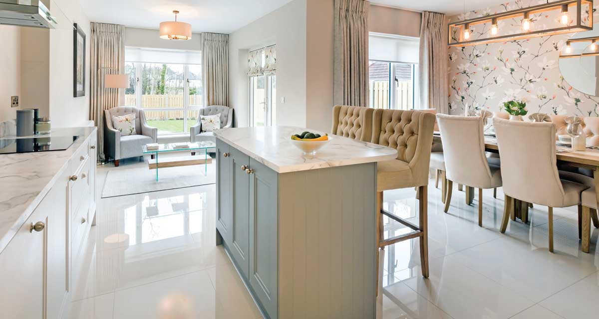 Barnwell Woods - Show house kitchen and living areas